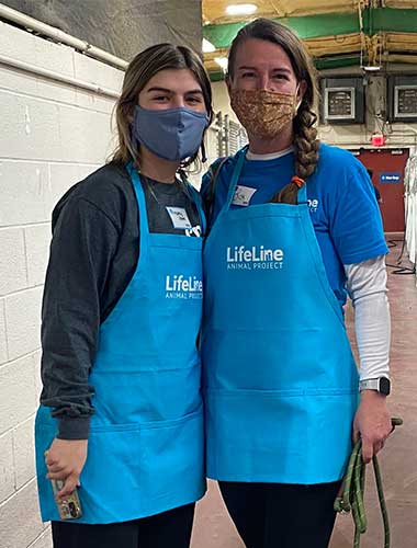two volunteers in Fulton County Animal Services